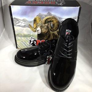 Rocky high gloss military dress shoes (no box)